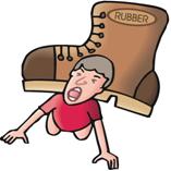 boy under shoe